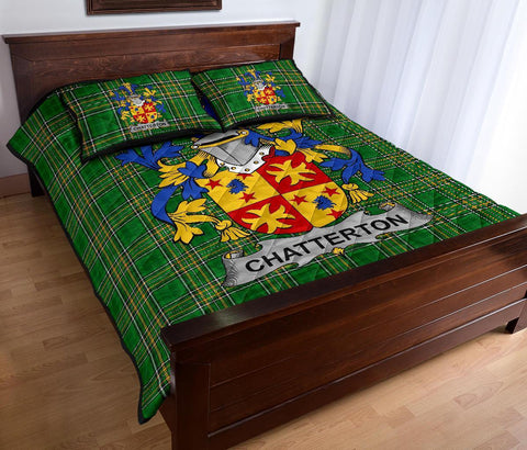 Image of Chatterton Ireland Quilt Bed Set Irish National Tartan | Over 1400 Crests | Home Set | Bedding Set