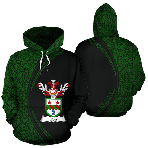 Image of Elder Family Crest Hoodie Irish Circle Style Hj4