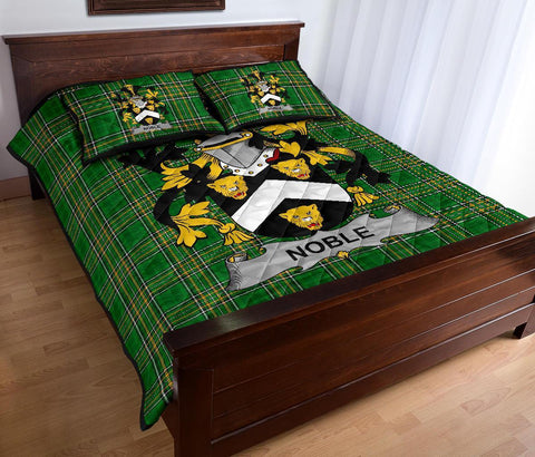Image of Noble Ireland Quilt Bed Set Irish National Tartan | Over 1400 Crests | Home Set | Bedding Set