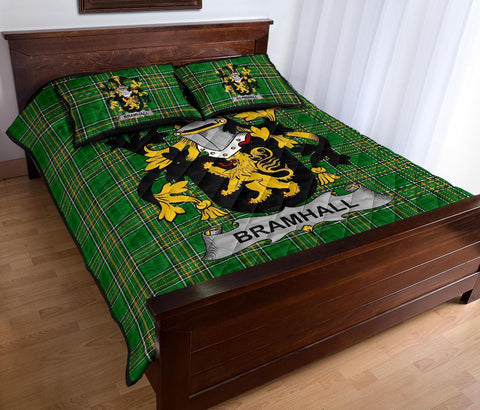 Image of Bramhall Ireland Quilt Bed Set Irish National Tartan | Over 1400 Crests | Home Set | Bedding Set