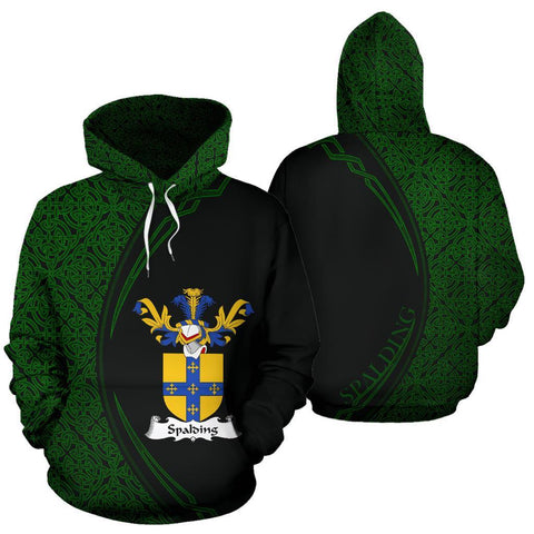 Spalding Family Crest Hoodie Irish Circle Style Hj4