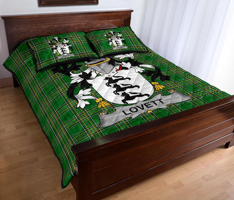 Lovett Ireland Quilt Bed Set Irish National Tartan | Over 1400 Crests | Home Set | Bedding Set