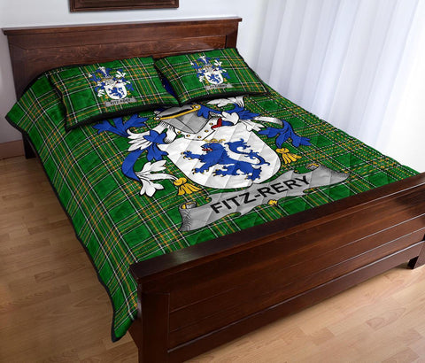 Fitz-Rery Ireland Quilt Bed Set Irish National Tartan | Over 1400 Crests | Home Set | Bedding Set