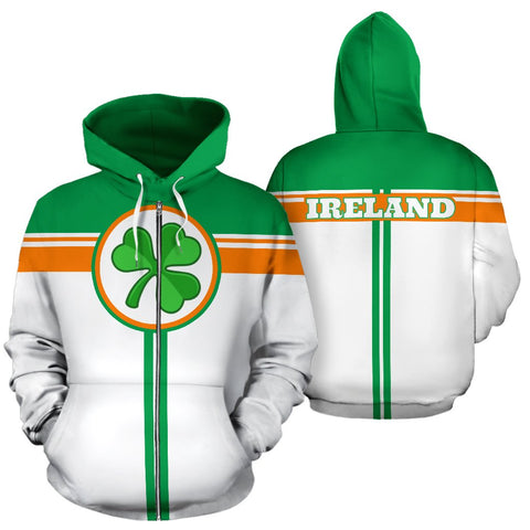 Ireland All Over Zip-Up Hoodie - Circle Style