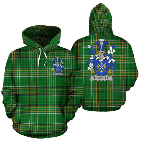 Fennelly or O'Fennelly Ireland Hoodie Irish National Tartan (Pullover) | Women & Men | Over 1400 Crests