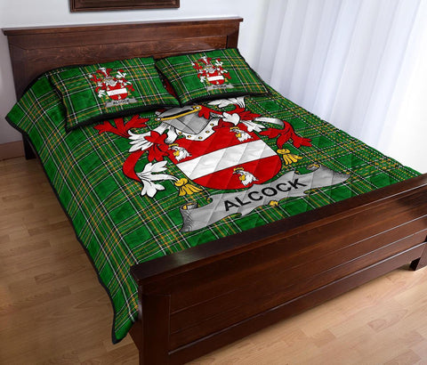 Alcock Ireland Quilt Bed Set Irish National Tartan | Over 1400 Crests | Home Set | Bedding Set