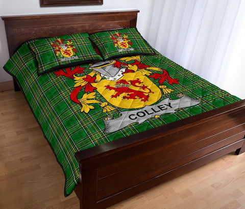 Colley or McColley Ireland Quilt Bed Set Irish National Tartan | Over 1400 Crests | Home Set | Bedding Set