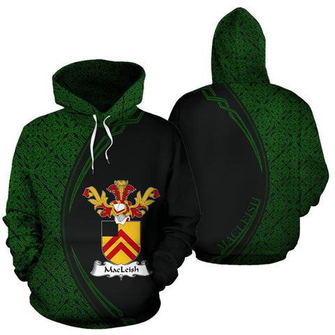 Image of MacLeish Family Crest Hoodie Irish Circle Style Hj4