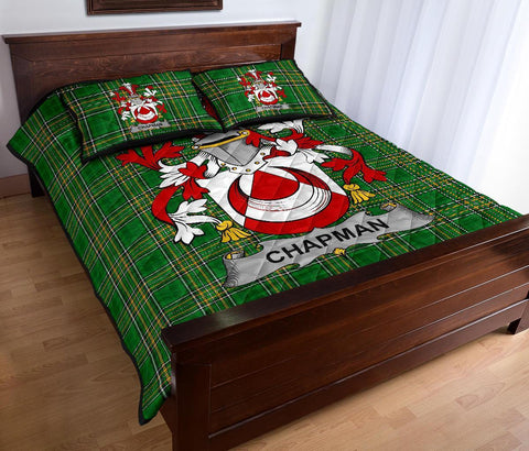 Chapman Ireland Quilt Bed Set Irish National Tartan | Over 1400 Crests | Home Set | Bedding Set