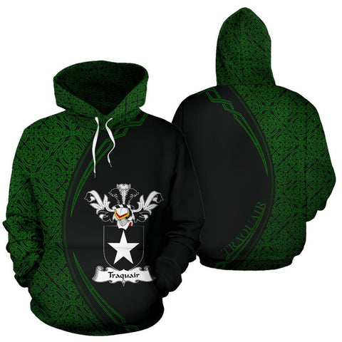 Traquair Family Crest Hoodie Irish Circle Style Hj4