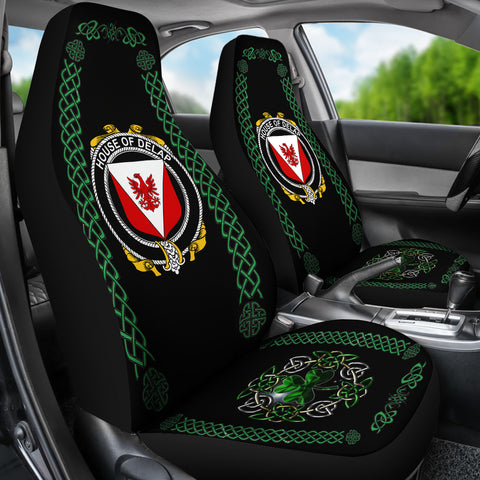 Delap Ireland Shamrock Celtic Irish Surname Car Seat Covers TH7