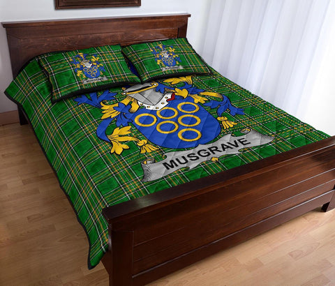 Image of Musgrave Ireland Quilt Bed Set Irish National Tartan | Over 1400 Crests | Home Set | Bedding Set