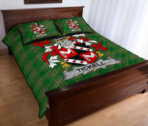 Tickell Ireland Quilt Bed Set Irish National Tartan | Over 1400 Crests | Home Set | Bedding Set