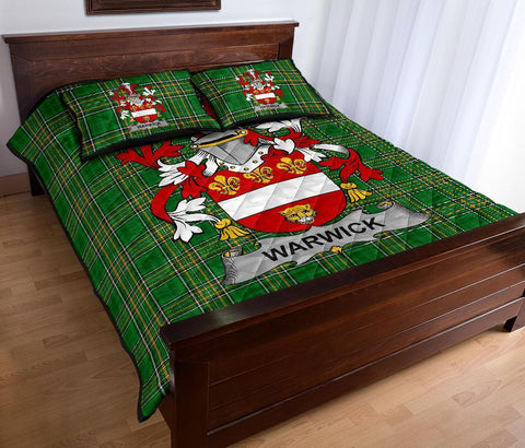 Image of Warwick Ireland Quilt Bed Set Irish National Tartan | Over 1400 Crests | Home Set | Bedding Set