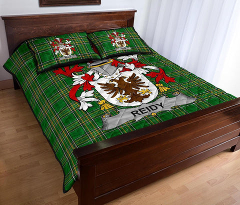 Image of Reidy or O'Reidy Ireland Quilt Bed Set Irish National Tartan | Over 1400 Crests | Home Set | Bedding Set