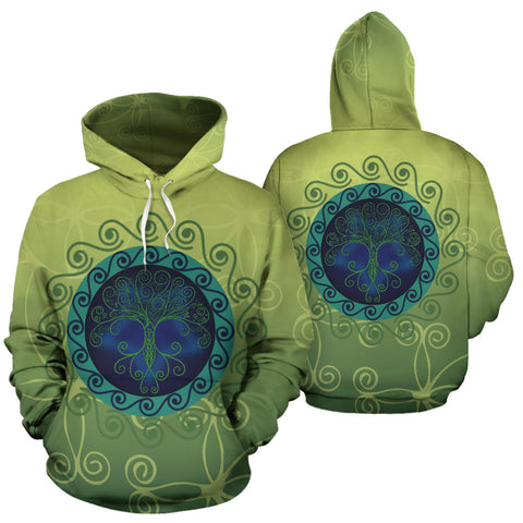 Celtic Tree of Life Hoodie - Front and Back - For Men and Women