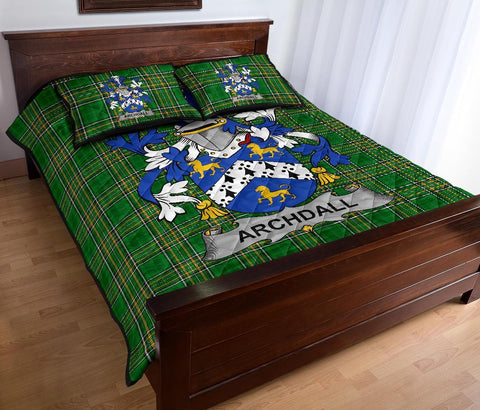 Archdall Ireland Quilt Bed Set Irish National Tartan | Over 1400 Crests | Home Set | Bedding Set