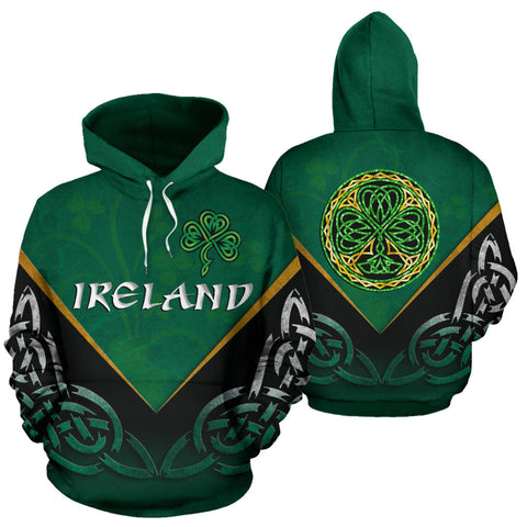 Image of Irish Celtic Knot Hoodie Shamrock K4