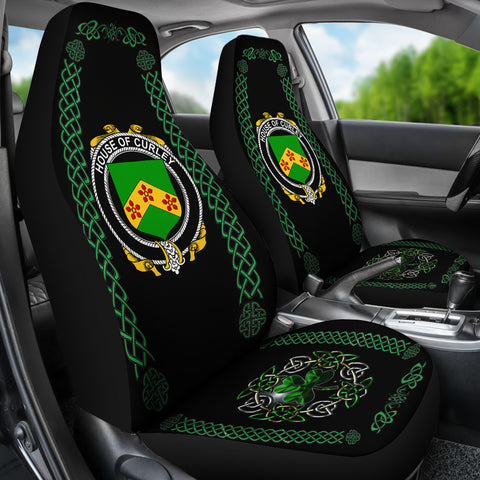Curley or McTurley Ireland Shamrock Celtic Irish Surname Car Seat Covers TH7
