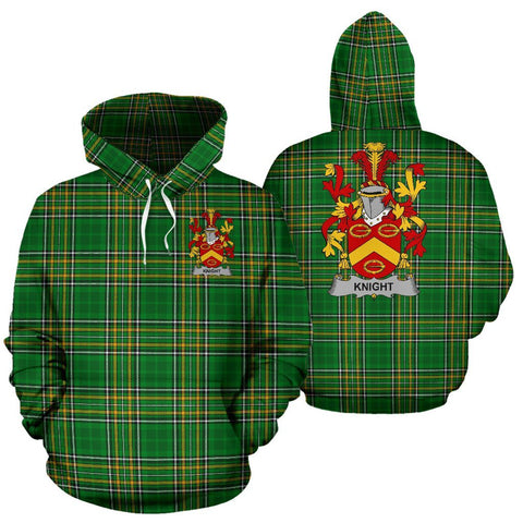 Knight Ireland Hoodie Irish National Tartan (Pullover) | Women & Men | Over 1400 Crests
