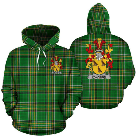 Falkiner Ireland Hoodie Irish National Tartan (Pullover) | Women & Men | Over 1400 Crests