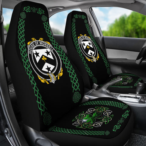 Monsell Ireland Shamrock Celtic Irish Surname Car Seat Covers TH7