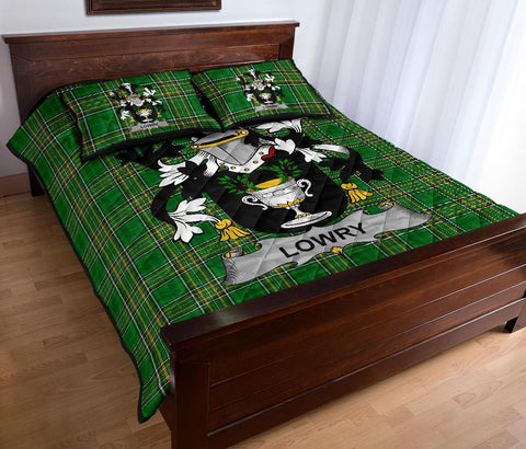 Lowry or Lavery Ireland Quilt Bed Set Irish National Tartan | Over 1400 Crests | Home Set | Bedding Set