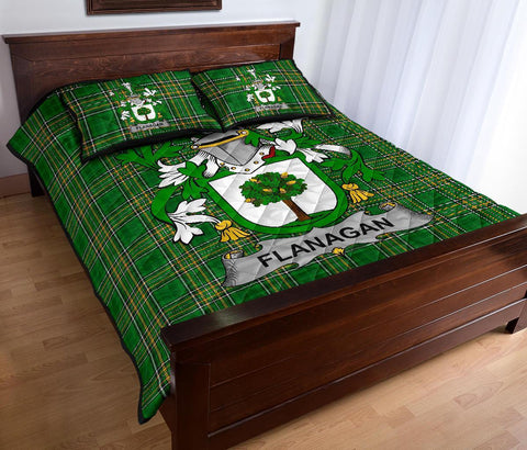 Flanagan or O'Flanagan Ireland Quilt Bed Set Irish National Tartan | Over 1400 Crests | Home Set | Bedding Set