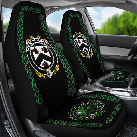 McPierce or Pierce Ireland Shamrock Celtic Irish Surname Car Seat Covers TH7