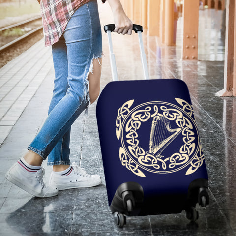Image of Irish Harp with Celtic Circle Luggage Cover