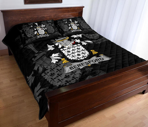 Irish Quilt Bed Set, Beresford Family Crest Premium Quilt And Pillow Cover A7