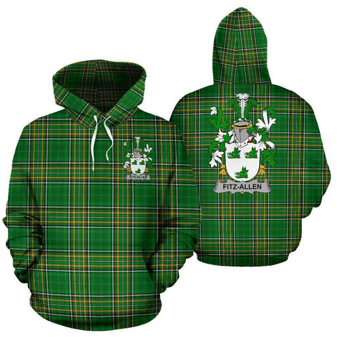 Fitz-Allen Ireland Hoodie Irish National Tartan (Pullover) | Women & Men | Over 1400 Crests