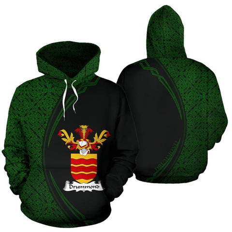Image of Drummond Family Crest Hoodie Irish Circle Style Hj4