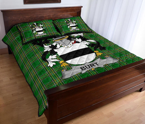 Burt or Birt Ireland Quilt Bed Set Irish National Tartan | Over 1400 Crests | Home Set | Bedding Set