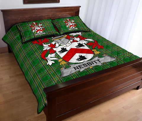 Nesbitt Ireland Quilt Bed Set Irish National Tartan | Over 1400 Crests | Home Set | Bedding Set