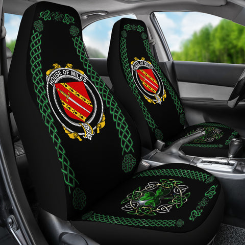 Miles or Moyles Ireland Shamrock Celtic Irish Surname Car Seat Covers TH7