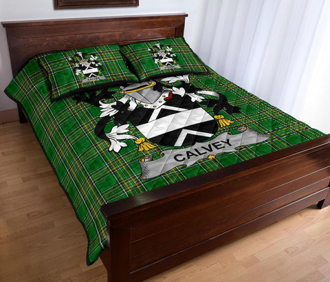 Calvey or McElwee Ireland Quilt Bed Set Irish National Tartan | Over 1400 Crests | Home Set | Bedding Set
