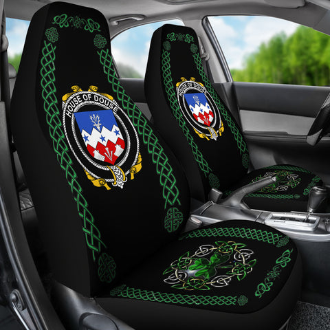 Image of Douse or Dowse Ireland Shamrock Celtic Irish Surname Car Seat Covers TH7