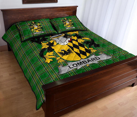 Lombard Ireland Quilt Bed Set Irish National Tartan | Over 1400 Crests | Home Set | Bedding Set