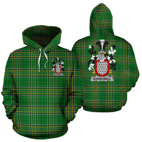 Barnewall Ireland Hoodie Irish National Tartan (Pullover) | Women & Men | Over 1400 Crests