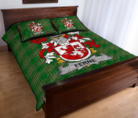 Ferne Ireland Quilt Bed Set Irish National Tartan | Over 1400 Crests | Home Set | Bedding Set