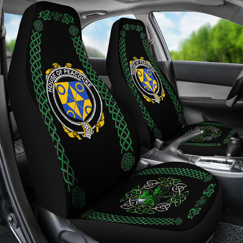 Peacocke Ireland Shamrock Celtic Irish Surname Car Seat Covers TH7