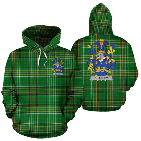 Shanley or McShanly Ireland Hoodie Irish National Tartan (Pullover) | Women & Men | Over 1400 Crests