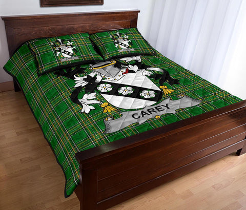 Carey or Cary Ireland Quilt Bed Set Irish National Tartan | Over 1400 Crests | Home Set | Bedding Set