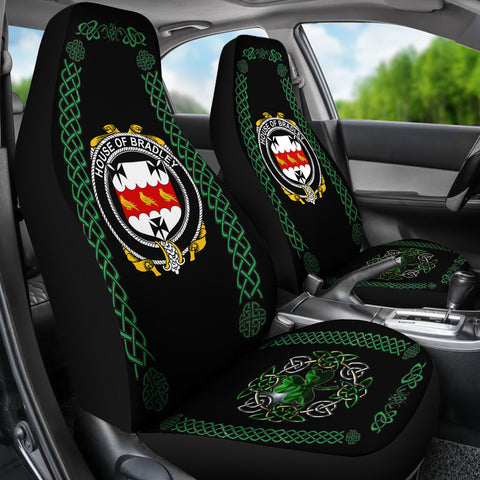 Bradley Ireland Shamrock Celtic Irish Surname Car Seat Covers TH7