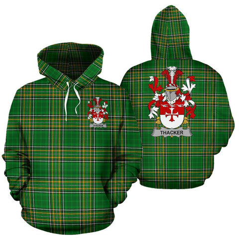 Thacker Ireland Hoodie Irish National Tartan (Pullover) | Women & Men | Over 1400 Crests