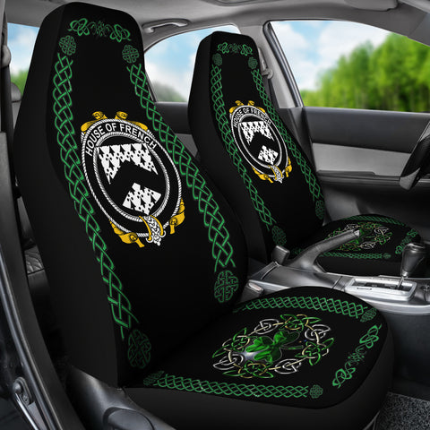 Image of French Ireland Shamrock Celtic Irish Surname Car Seat Covers TH7