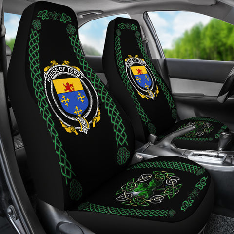 Terry Ireland Shamrock Celtic Irish Surname Car Seat Covers TH7