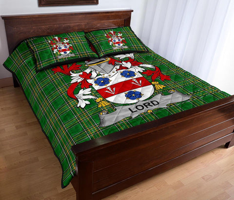 Lord Ireland Quilt Bed Set Irish National Tartan | Over 1400 Crests | Home Set | Bedding Set