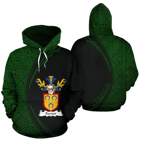 Ferrier Family Crest Hoodie Irish Circle Style Hj4